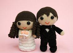 Amigurumi bride and groom wedding dolls wedding gift wedding decoration cake topper di iogurumi su Etsy