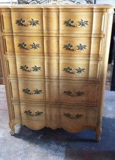 Vintage French provincial highboy/chest of by ProvincialButFrench