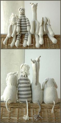 DIY Knit Safari Animals pattern for $12.  This would make a great present for a baby shower!