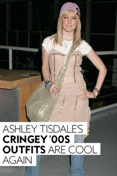 It's time to apologize to 2021's most unexpected style icon.#fashion #throwback #tbt Dress Over Pants, Dress Skirt, Ugg Like Boots, Icon Fashion, Disney Inspired Outfits, Ashley Tisdale, Fall Skirts, Shoulder Shirts, City Chic