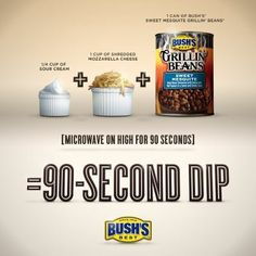Nibble Me This: 90 second bean dip