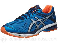 free shipping 13b8d ed96b ASICS GT 1000 4 Men s Shoes Blue Silver Orange