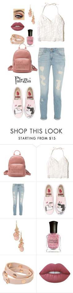 Patrizzia21.07.2017a by patrizzia on Polyvore featuring moda, Hollister Co., Vans, Eloquii, Tory Burch, Avon, Lime Crime, Deborah Lippmann and patrizziapolyvore