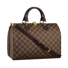 377d9cb8dc42 Louis Vuitton Damier Ebene Speedy with shoulder strap bandouliere sale at -  Free Worldwide shipping. Get today Louis Vuitton Damier Ebene Speedy with  ...