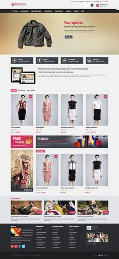 Pav Dress Store Responsive Opencart Theme     Its design is perfect for Fashion store, Dress Store or Clothes store as well. The Opencart theme is one of the best Opencart Template framework. It is fully responsive and supports both CSS3 and HTML5 that help to create refined web pages with semantic accuracy.