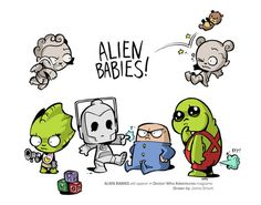 Doctor Who Alien Babies-I wish there was a Judoon, how cute would that have been?