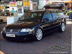 Black VW Passat B5.5 Estate on Maserati wheels