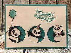 alle drei Pandas aus dem Stempelset Party-Pandas