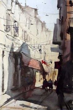 Alvaro Castagnet | Another painting that looks like Morocco: a part of Casablanca I visited.