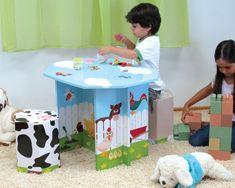 Dcarton - muebles juguetes carton reciclaje ecologico - mueble juvenil - 1