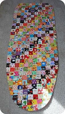 This small quilted ironing pad is a great way to use up some ... : quilted ironing board cover - Adamdwight.com