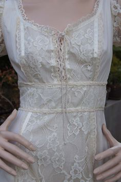 Vintage 1970s Lace Up Corset Bohemian Peasant by snapitupvintage, $58.00