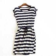 Aliexpress.com: Comprar 2016 nuevo estilo del verano vestido de La Raya Ocasional vestido de verano las mujeres vestidos sin mangas de color sólido ropa barata de china de china a base de hierbas fiable proveedores en Modern woman