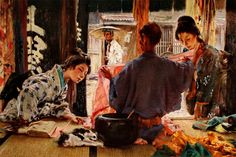 Silk draper by Robert Frederick Blum