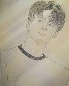 Just drawing Kim Hanbin 1642018 #Kim Hanbin #B.I #iKon #fanart
