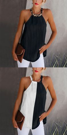 Womens fashion vests, fashion casual style and comfortable material you will love it, tops, jumpsuits and dresses you ca Outfits 2016, Mode Outfits, Casual Outfits, Vest Outfits, Illustration Mode, Elegantes Outfit, Casual Jumpsuit, Denim Jumpsuit, Look Fashion