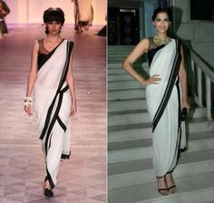 effortlessly stylish...luv her Dhoti saree