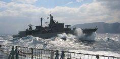 """Οι Τούρκοι αρνούνται να αποχωρήσουν:""""Ναυμαχία"""" νότια Καρπάθου μεταξύ ελληνικής και τουρκικής φρεγάτας! Τι έχει συμβεί"""