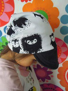 Ipanappi: Lautasen avulla kaavoitettu lippispipo Sewing Baby Clothes, Snapback, Bucket Hat, Sewing Patterns, Crafty, Hats, Womens Fashion, Diy, Handicraft Ideas