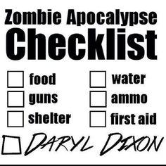 Zombie Checklist...