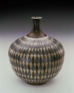 Stoneware Vase No. 661 by Harrison McIntosh / American Art