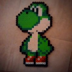 Yoshi perler beads by dedzone889