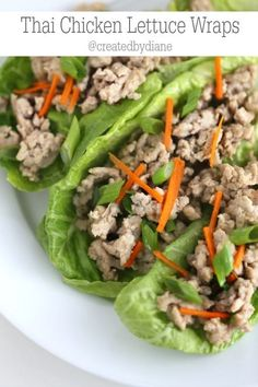 Thai Chicken Lettuce Wraps @createdbydiane