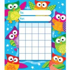 36 x Wise Owl Stars Design Children's Reward Chart Pad by Trend Owl Classroom, Classroom Themes, Preschool Classroom, Stars Classroom, School Themes, School Ideas, Happy Birthday Owl, Classroom Management Tips, Behaviour Management