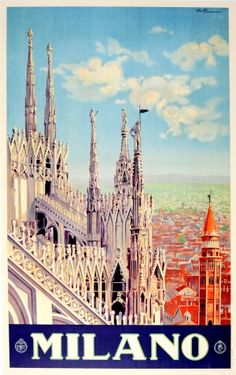 Milano Italy ENIT 1930s - original vintage poster listed on AntikBar.co.uk