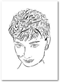 Audrey Hepburn Type Print