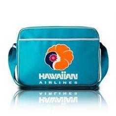 HAWAIIAN RETRO AIRLINE BAG (TURQUOISE) Flight Bag, Hawaiian Airlines, Airline Travel, Vintage Hawaii, Carry On Bag, Retro Design, School Bags, Travel Bags, Branding
