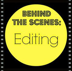 Editing tips and a behind-the-scenes look at the process of editing a book.