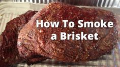 Slow Smoke Beef Brisket Like a Competitor! Want to smoke a brisket like the big boys do? Go competition style and learn how you can slow smoke a beef bris