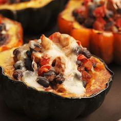 Southwestern Stuffed Acorn Squash.. I think use ground turkey instead of sausage