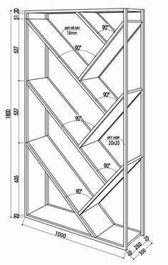 17 Simple and Amazing Bookshelf Plans Steel Furniture, Industrial Furniture, Furniture Plans, Diy Furniture, Furniture Design, Wood Bookshelves, Bookshelf Plans, Bookshelf Design, Bookshelf Ideas