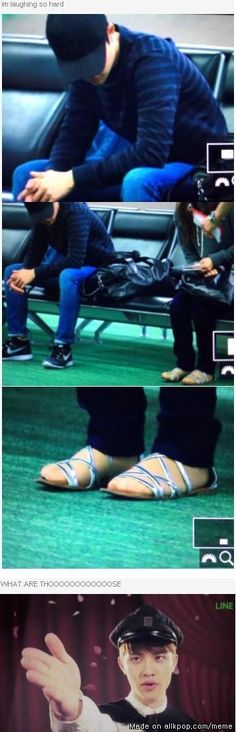 Kyungsoo is ready to rid the world of these fashion terrorists. XD