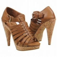 SALE - Mia Studio Cone Heels Womens Tan Leather - Was $65.00 - SAVE $3.00. BUY Now - ONLY $61.75.