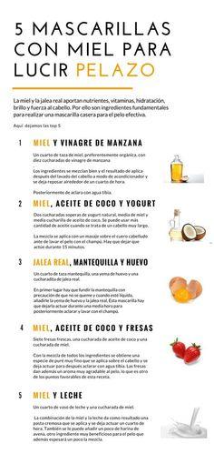 La miel tiene propiedades que lo hacen un ingrediente esencial en las mascarillas para el cabello.   mascarillas para el cabello seco - mascarillas para el cabello crecer - mascarillas caseras para el cabello. #mascarilla #remedioscaseros