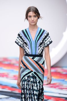 Peter Pilotto S/S '13 - Love, love the colors, the cut, the blend of patterns.  Pure fun to wear.