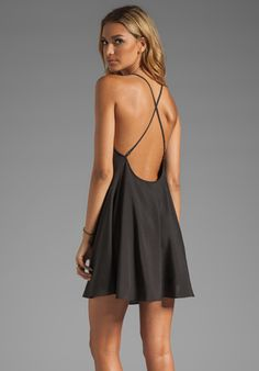 black slip dress - goes with everything!