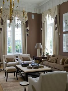 Ok!!  This is it.  I am doing these window treatments for my living room.  I have the divider in the middle of each window and this is perfect!!