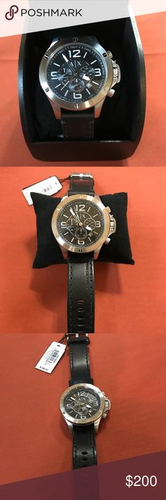 BRAND NEW Armani Exchange Mens Watch Never before worn. Comes with box, watch case, plastic wrapping on everything, authentication card, & care card! Nothing wrong with it, I just thought it was a different color! Reasonable offers welcome Armani Exchange Accessories Watches