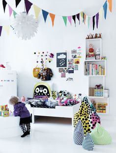 Scandinavian style - white with colour & pattern