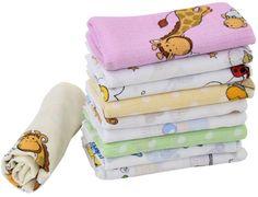 20 Stoffwindeln bunt für Mädchen Mullwindeln Spucktücher Baumwolle 60x80cm