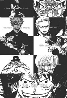 I have my mother's dreams, I have my father's eyes, you can't take that from me, just go ahead and try, the crescent city sleeps, preparing to unleash, while giants in the sky, let loose a mighty cry, help is on the way, text, Robin, Olvia, Usopp, Sanji, Zoro, Franky, Brook, Chopper, Nami, Luffy, crying, sad, angry, Straw Hat Crew, Mugiwara; One Piece