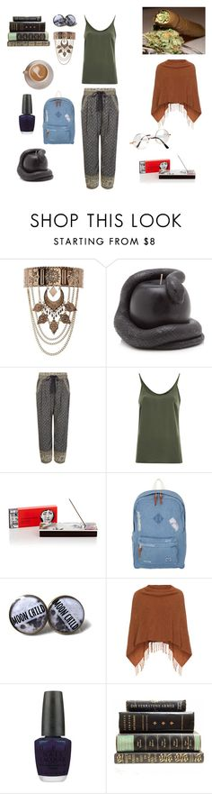 """""""Morning"""" by manicpixiepsycho ❤ liked on Polyvore featuring New Look, D.L. & Co., Sea, New York, VILA, Fornasetti, Herschel, Samoon, OPI and Retrò"""