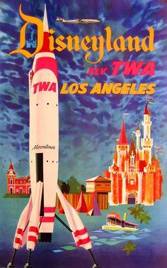 TWA Los Angeles travel poster.