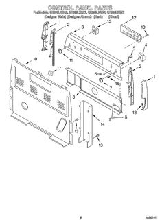 Whirlpool Appliance GR396LXGQ2 Parts List