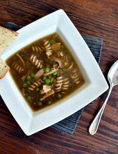 Homemade Dark Chicken Noodle Soup Recipe from COOKtheSTORY.com