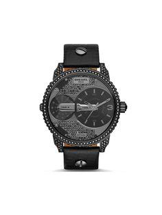 Diesel Men's DZ7328 Mini Daddy Analog Display Black Stone Watch